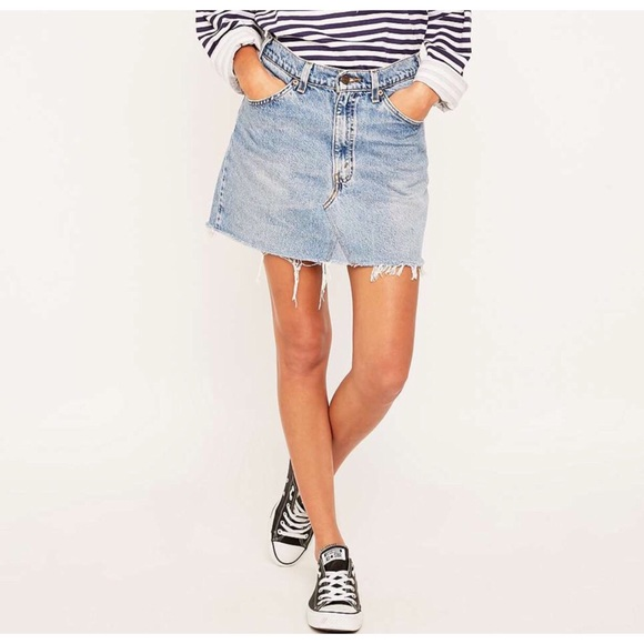 357f53d592 Urban Outfitters Skirts | Uo Nwt Urban Renewal Levis 501 Denim Skirt ...